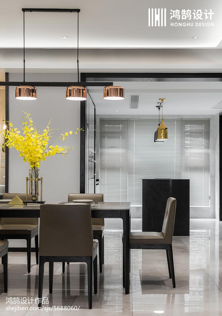 优美150平现代四居餐厅装饰图