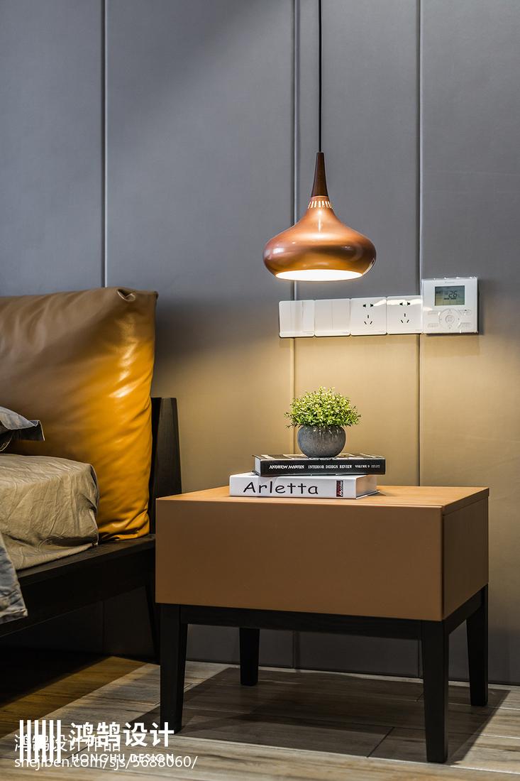 面积141平现代四居卧室实景图