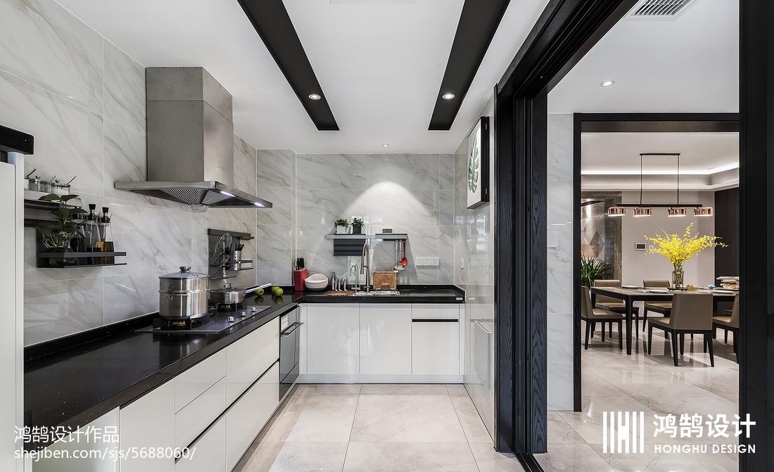 精选面积127平现代四居厨房装饰图