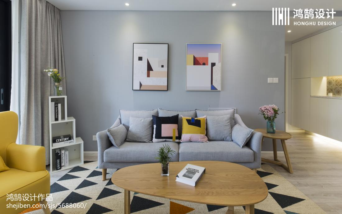 201873平米二居客厅北欧装修欣赏图