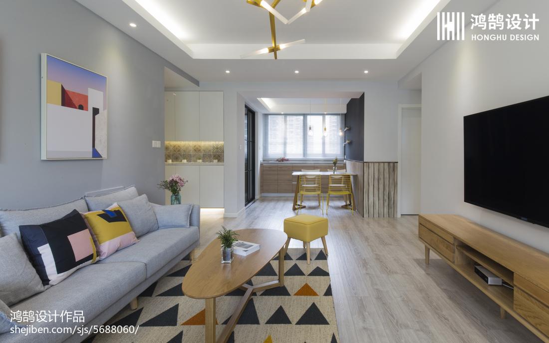 2018面积82平北欧二居客厅装修效果图片