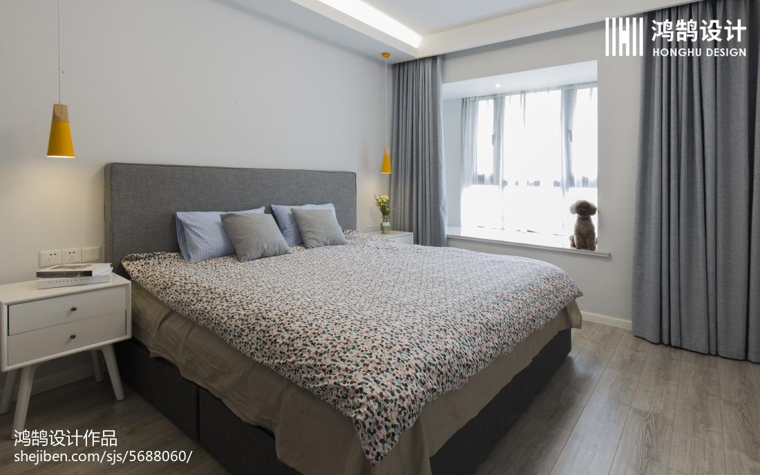 84平米二居卧室北欧装修效果图片大全