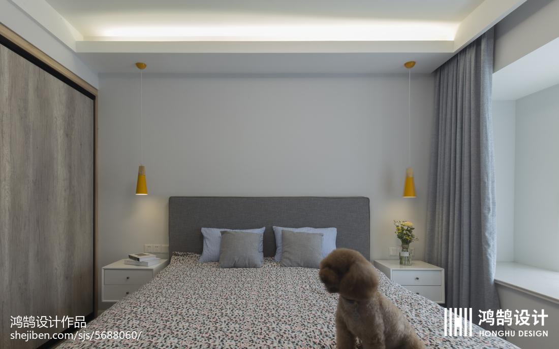 热门79平米二居卧室北欧实景图