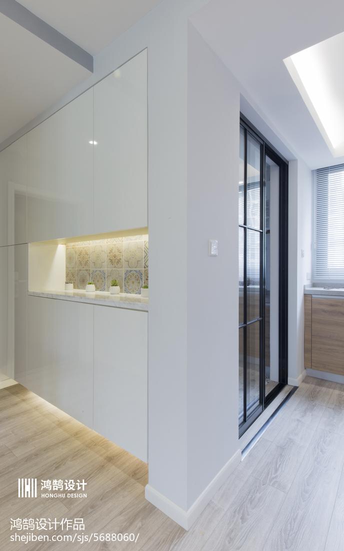 面积83平北欧二居玄关装饰图片欣赏