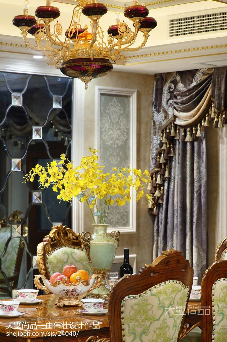 精选120平米欧式别墅餐厅欣赏图片大全