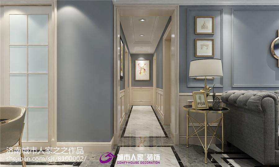 中式现代家居客厅装修效果图