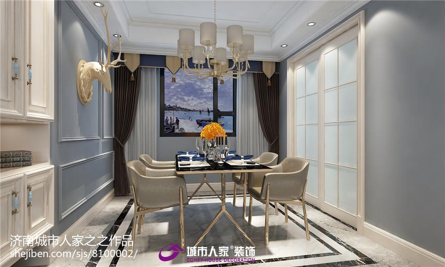 中式现代室内卧室装修效果图