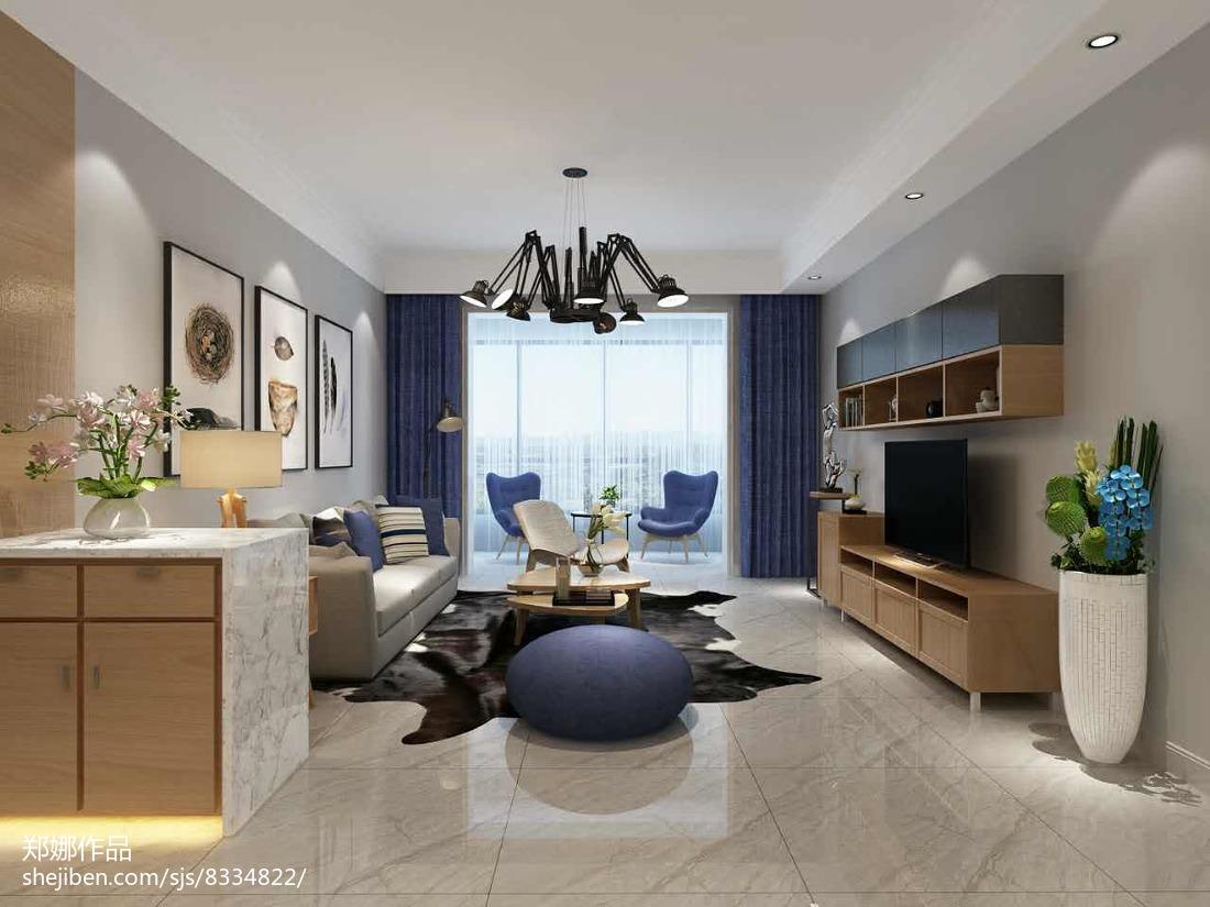 现代四居客厅装修设计效果图片欣赏