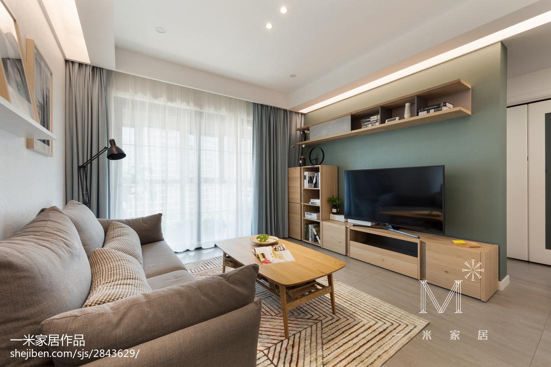 大小97平北欧三居客厅装修欣赏图片