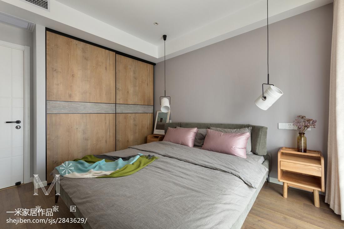 201894平米三居卧室北欧实景图片大全