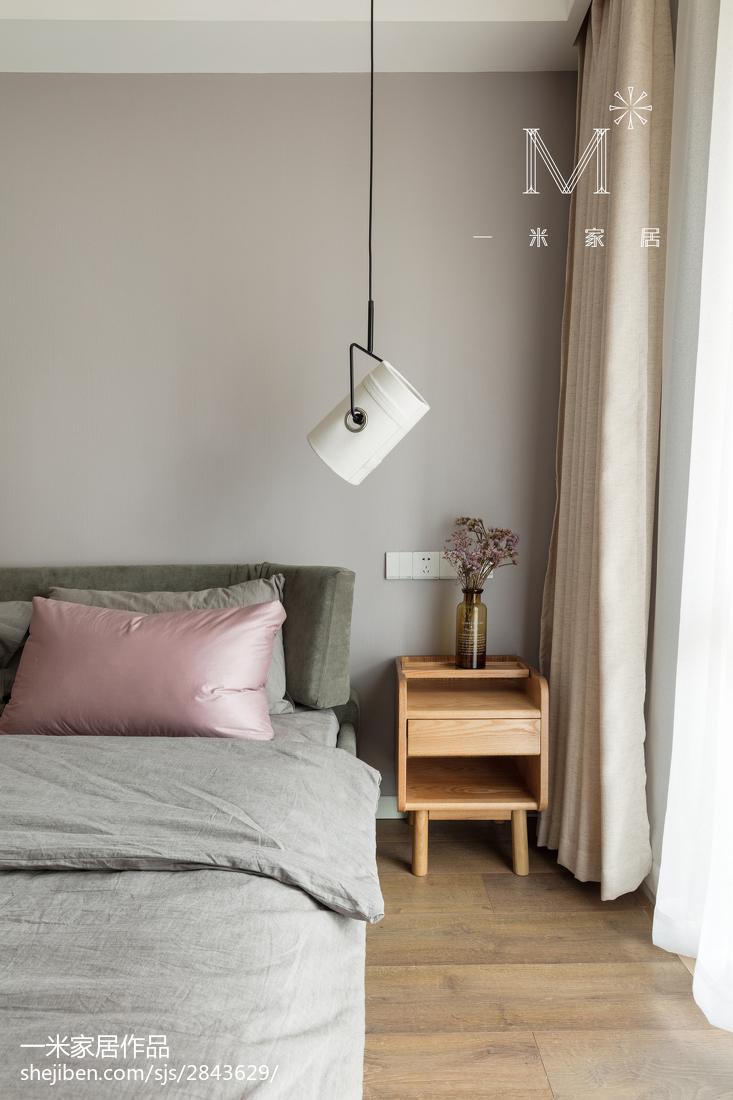 精选93平米三居卧室北欧装饰图