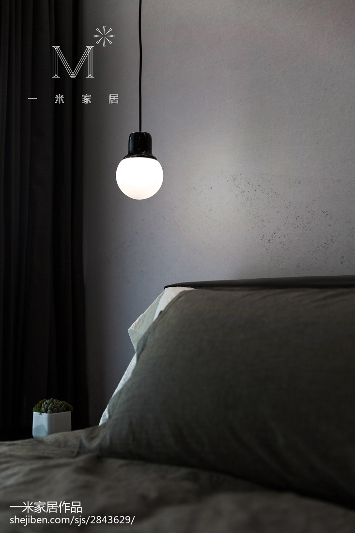 2018精选大小108平简约三居卧室装修设计效果图片