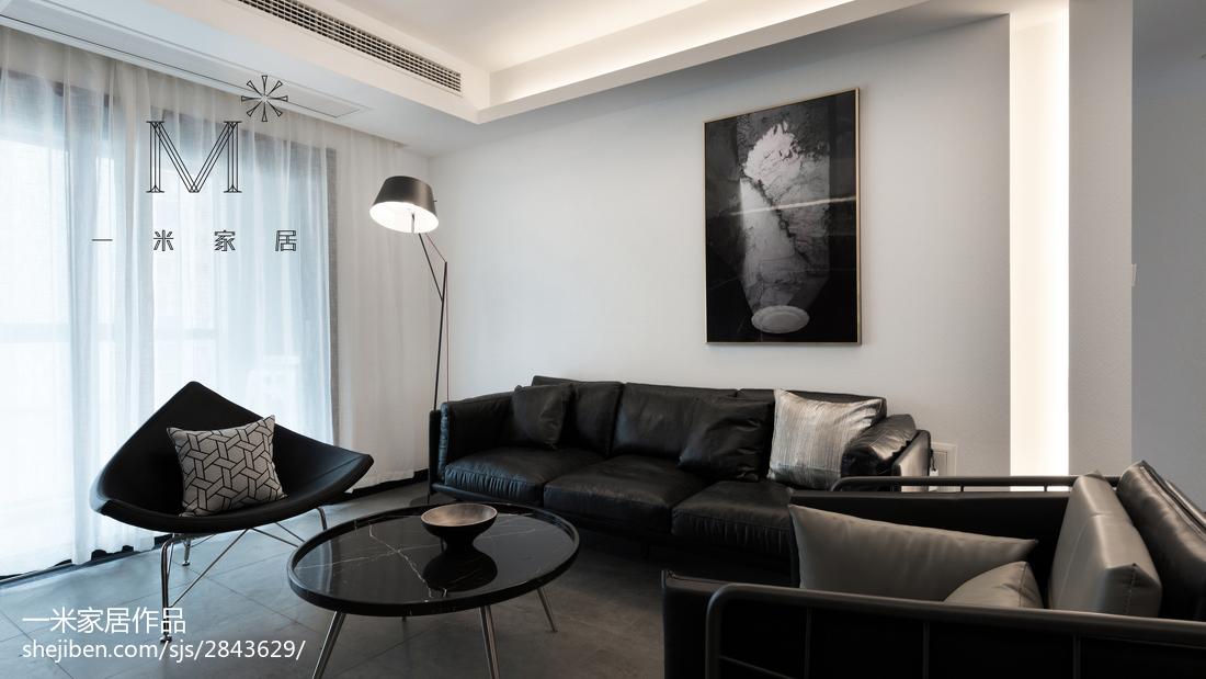 热门105平米三居客厅简约装修效果图