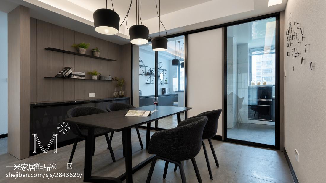 精选面积102平简约三居餐厅装修效果图片