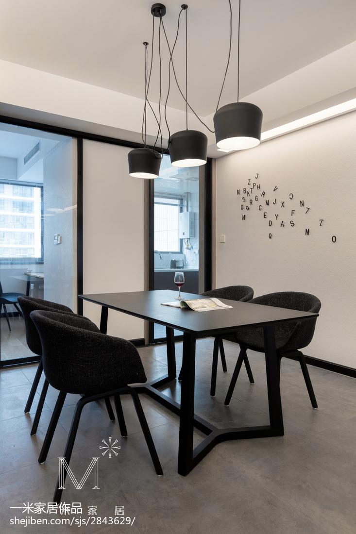 2018精选99平米三居餐厅简约装修效果图片大全