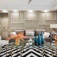 2018102平米三居客厅美式实景图