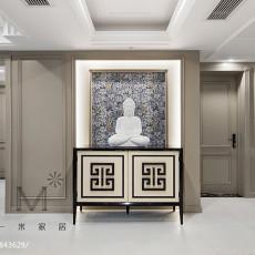 精选面积100平美式三居玄关装饰图片大全