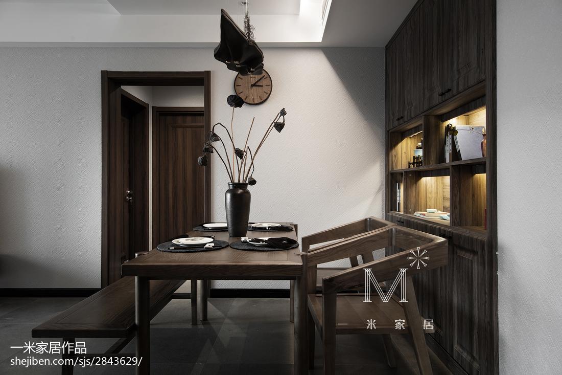 105平米三居餐厅中式装修效果图
