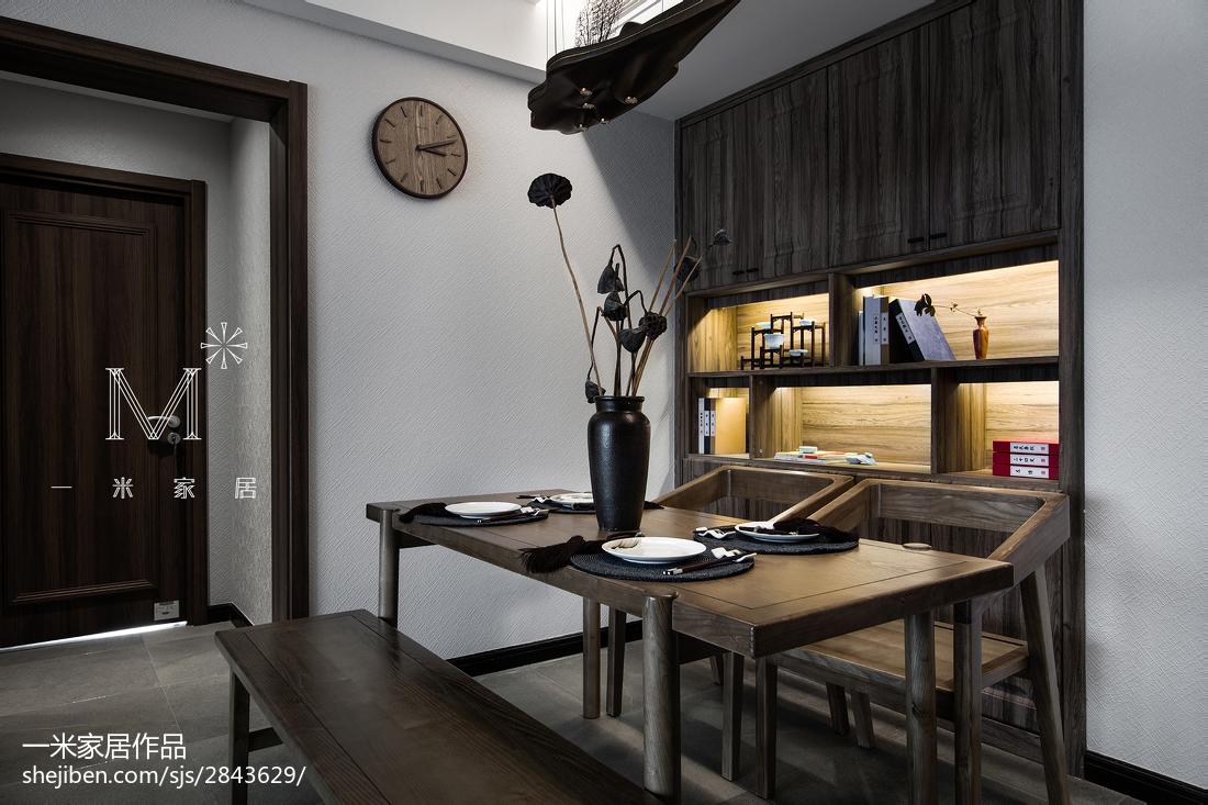 90平米三居餐厅中式装修效果图