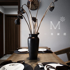 精选108平米三居餐厅中式装饰图片大全