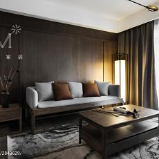 2018精选99平米三居客厅中式装修实景图