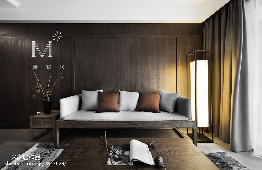 2018精选90平米三居客厅中式装修设计效果图片欣赏