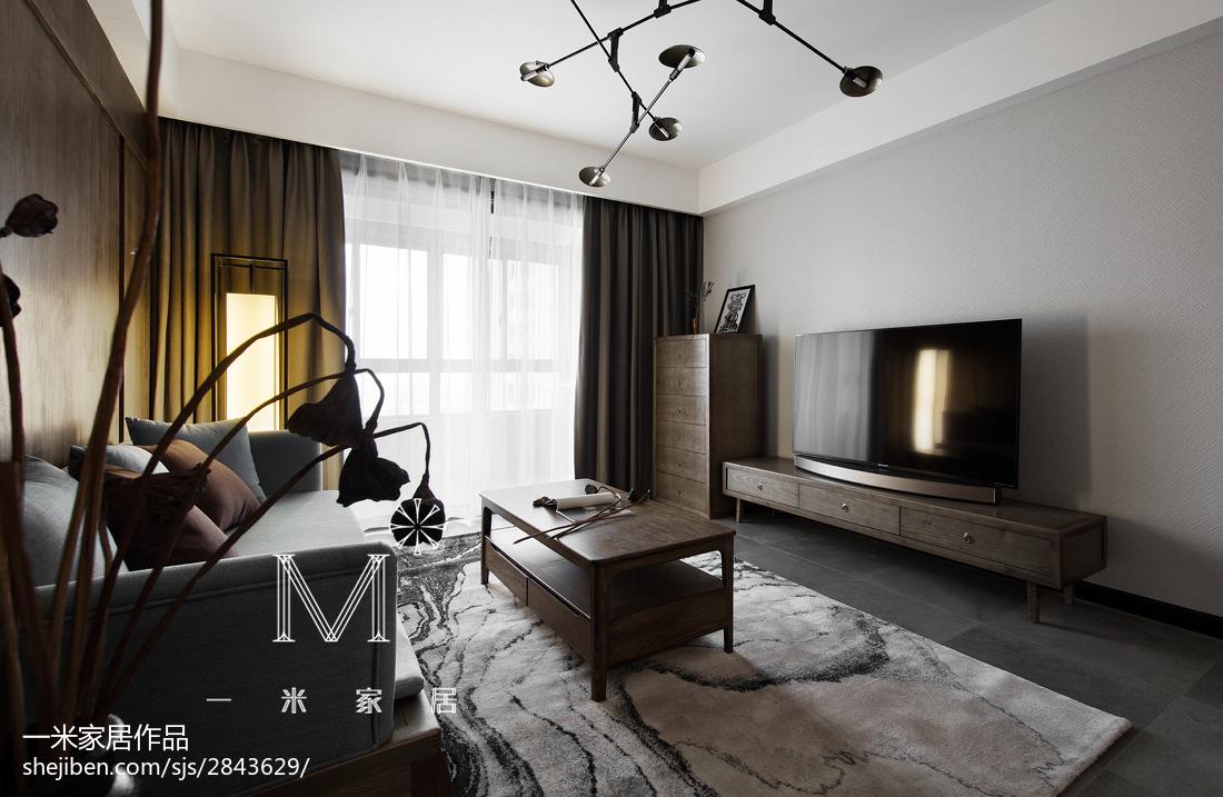 105m²新中式客厅设计图片