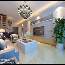 面积141平复式客厅简约装修效果图