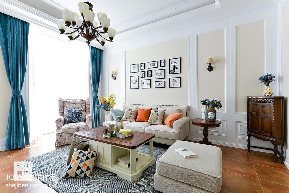 普通美式三居客厅设计图