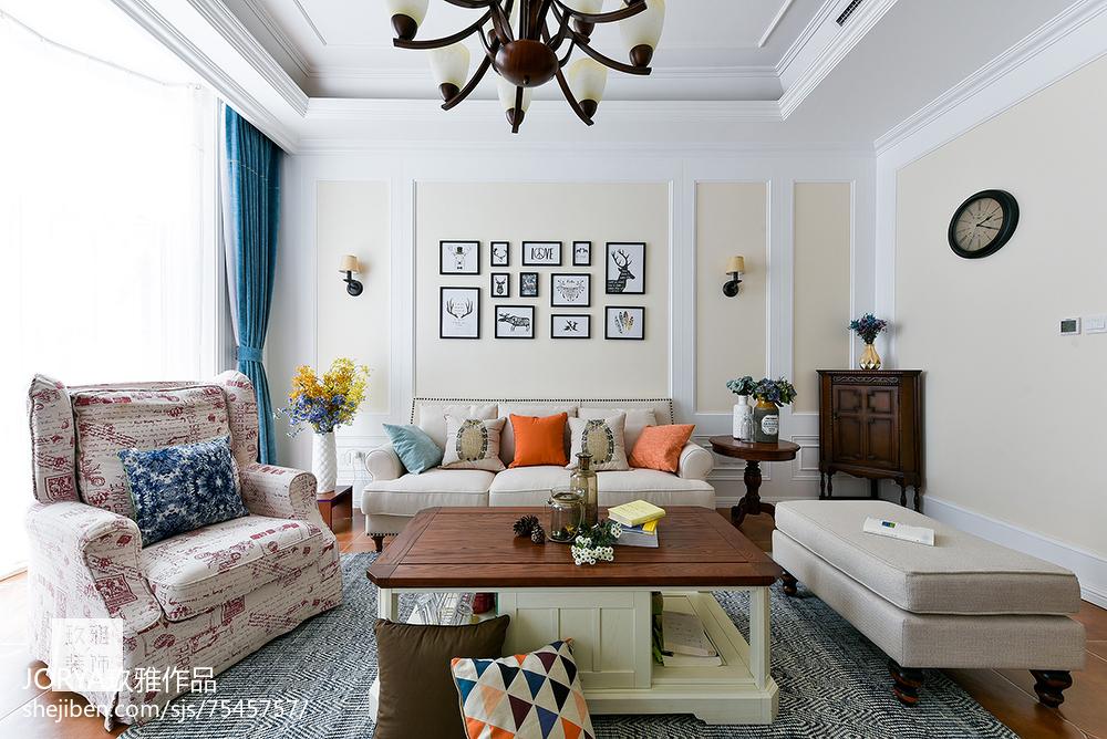 普通美式三居客厅设计图片