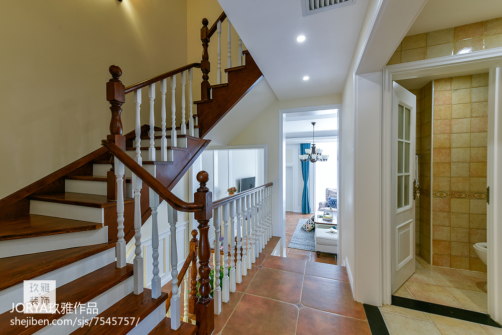 优雅112平美式三居装修装饰图