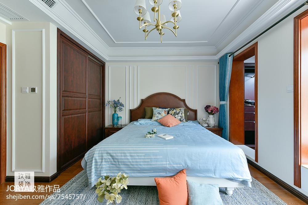 复古美式三居卧室设计图片