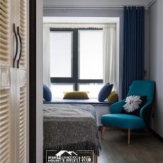 悠雅107平现代四居卧室装修美图