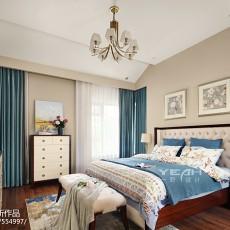 精美121平米美式别墅卧室效果图片欣赏