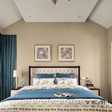 精美面积122平别墅卧室美式装修欣赏图片