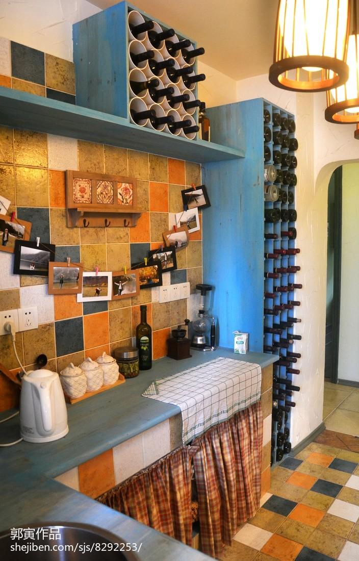 精美137平米地中海复式厨房欣赏图片大全