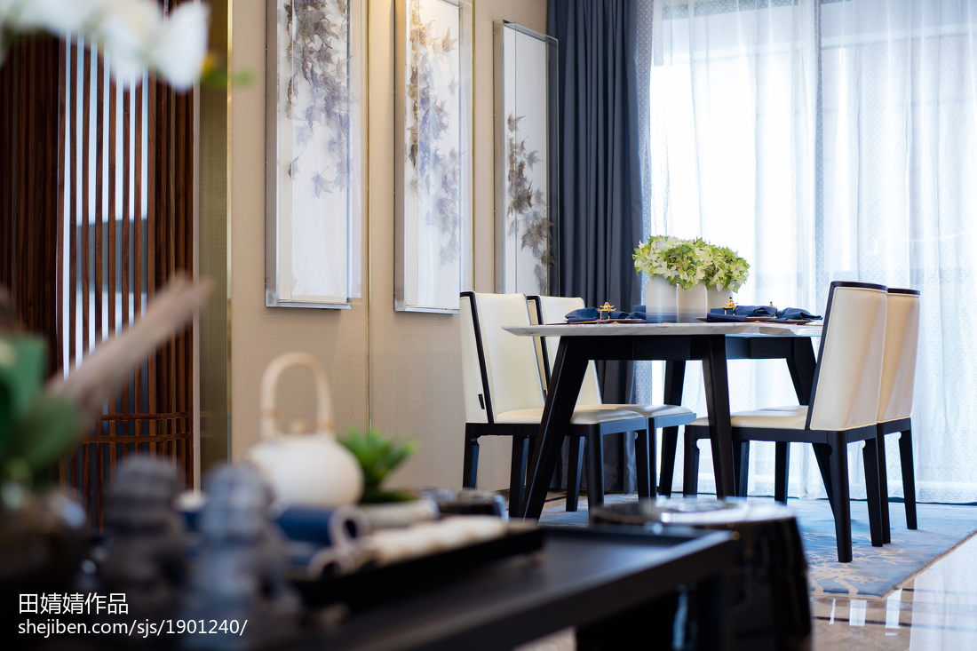 传统中式三居餐厅设计图