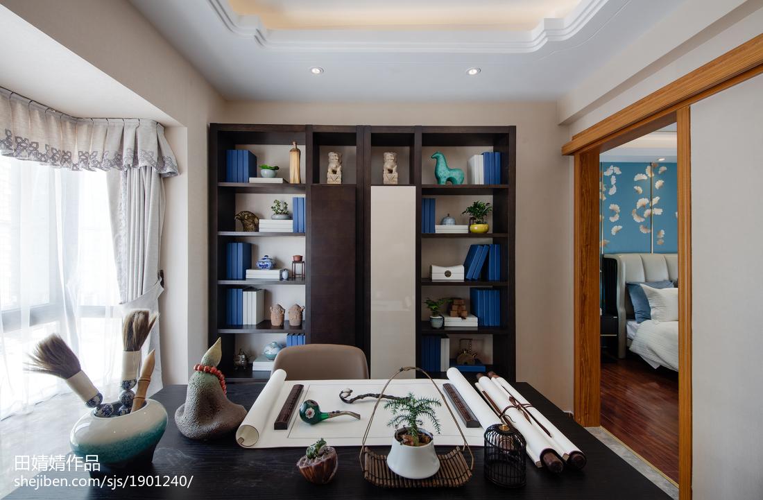 传统中式三居书房设计图