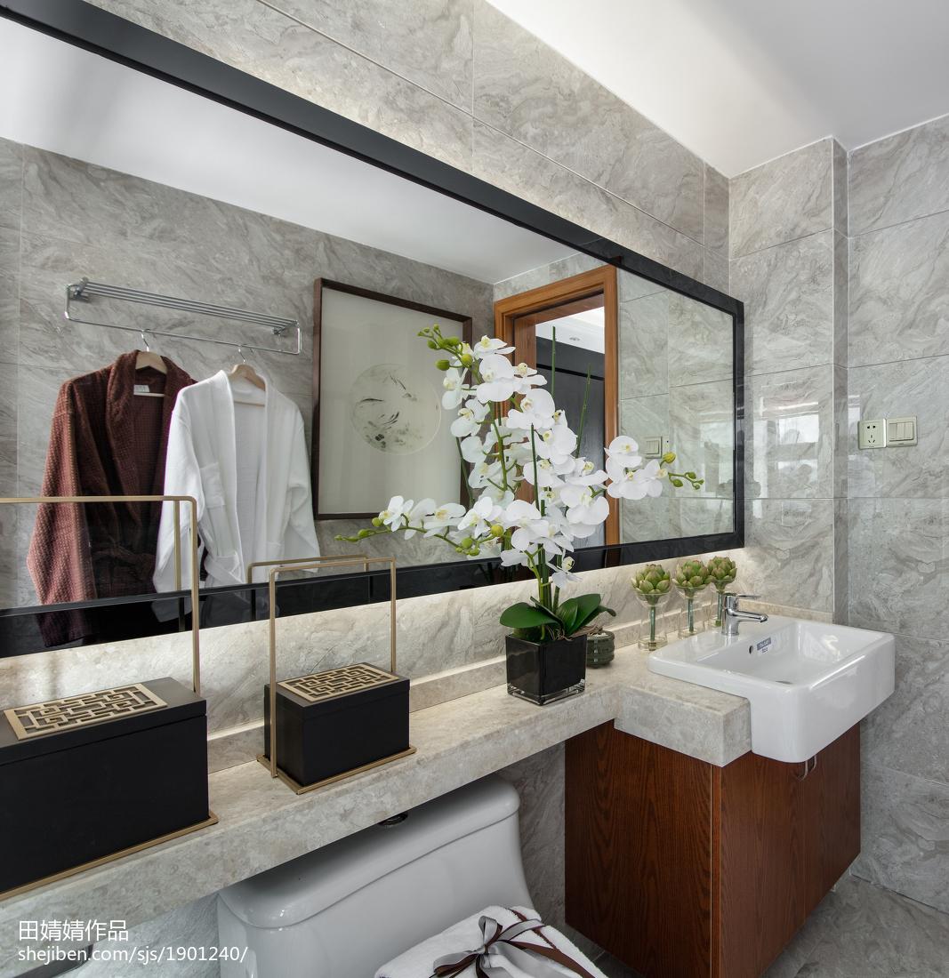 传统中式三居卫浴设计图