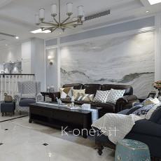 2018精选118平米美式别墅客厅装修设计效果图片欣赏