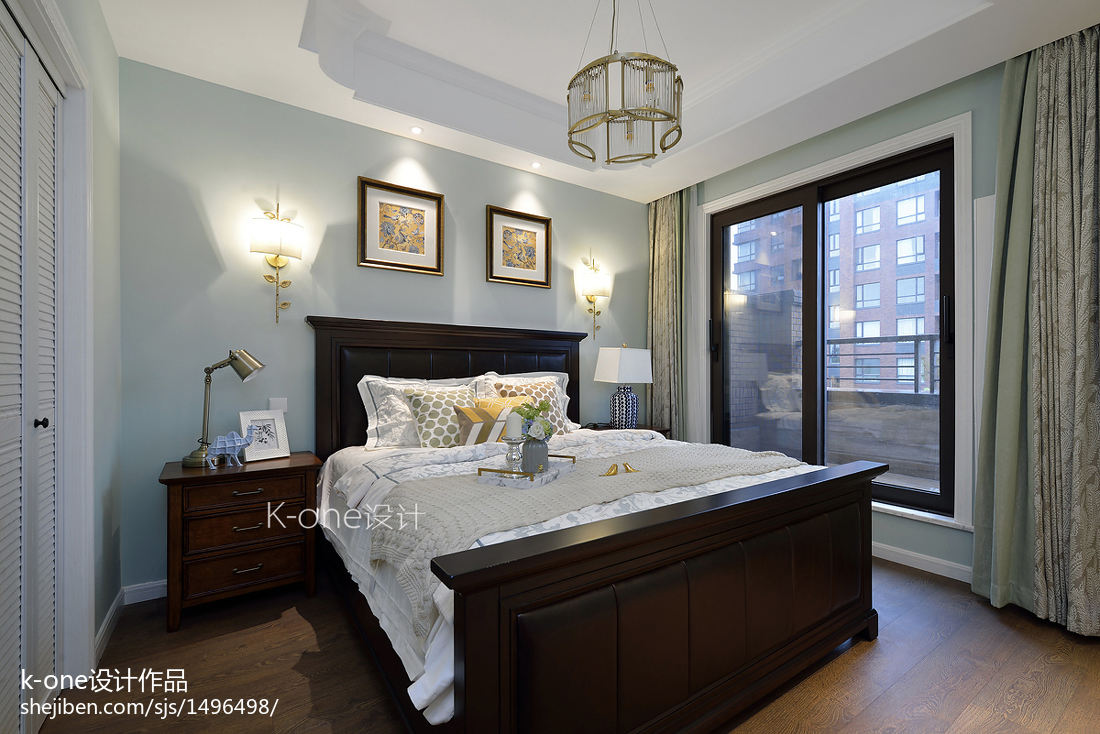 2018精选139平米美式别墅卧室装修设计效果图片大全