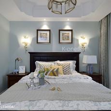 2018139平米美式别墅卧室装修设计效果图