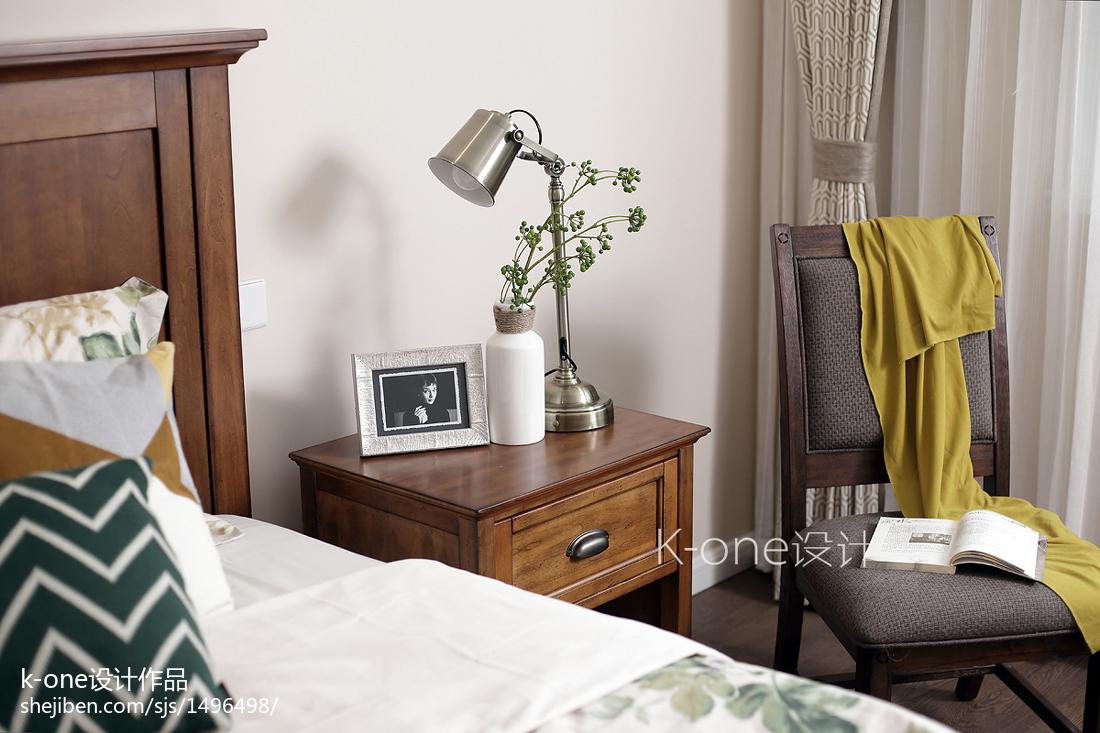 面积123平别墅卧室美式装修欣赏图