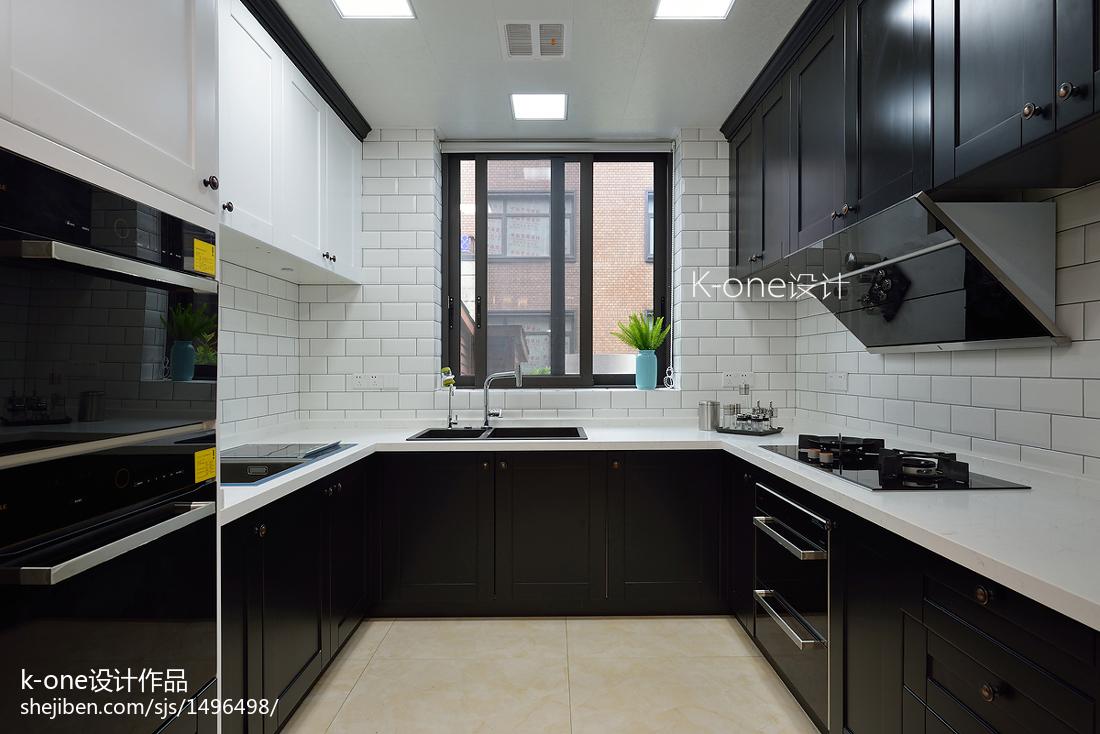 2018精选别墅厨房美式装修效果图片