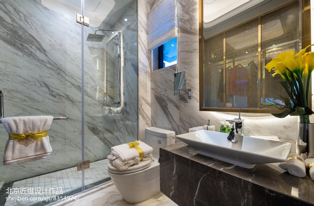 热门卫生间现代装修设计效果图片欣赏