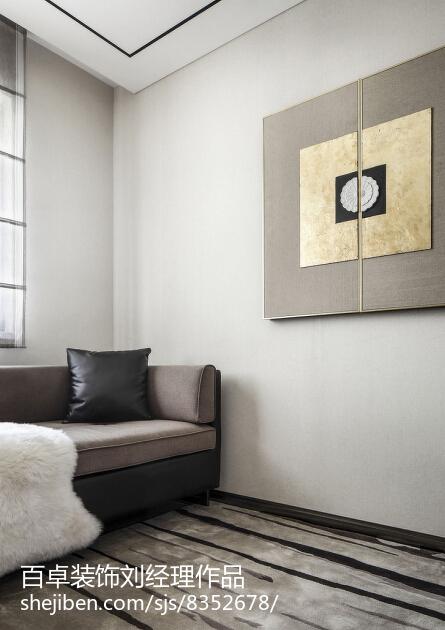 热门面积85平小户型休闲区简约装修实景图片