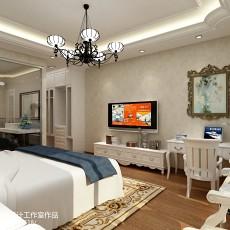 现代家庭卧室装修效果图大全2014图片