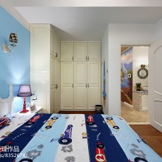 2018精选74平米二居卧室欧式装修实景图片欣赏