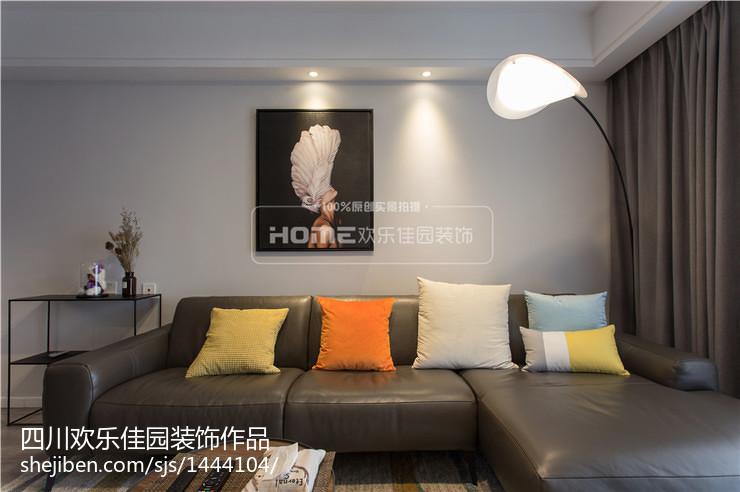 热门92平米三居客厅现代装修图