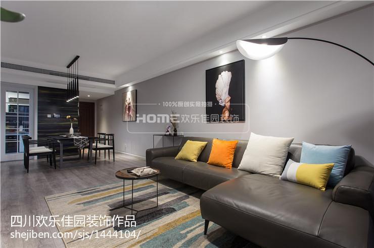 精美大小107平现代三居客厅装修效果图片欣赏